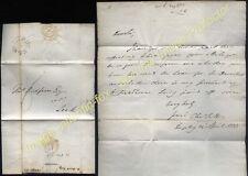 1833 RUGELEY Staffs Postmarked letter to LEEK