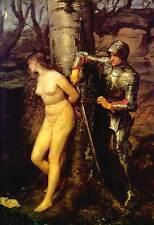 Cavaliere Errante di Sir John Everett Millais Carne Tela/Stampa Artistica Poster