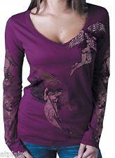 T-Shirt femme ML ANGEL DEVIL - Taille S - Style BIKER HARLEY