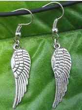 Free Ship 10PCS Silver Biker Eagle Earrings 50MM JK0438