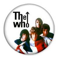 """The Who 25mm 1"""" Pin Badge Button Retro Punk Rock New Wave Band Mod"""