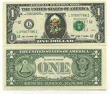 EDDIE IRON MAIDEN VRAI BILLET 1 DOLLAR! Collection HEAVY METAL HARD ROCK Ed Eddy