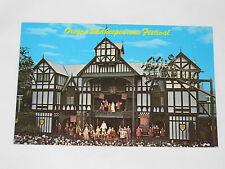 Vintage Elizabethan Stagehouse Oregon Shakespearean Festival Ashland Postcard