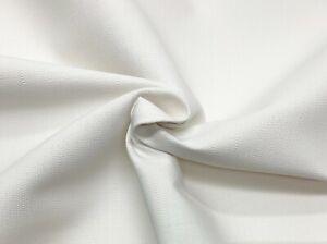"BALLARD DESIGNS VERONA SNOW SUNBRELLA WHITE LINEN LIKE FABRIC BY YARD 54""W"