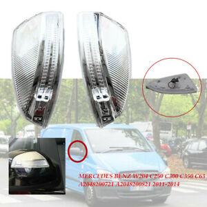 2×LED Side Mirror Turn Signal Light FitFor Mercedes Benz W204 W639 C250 C300 kit