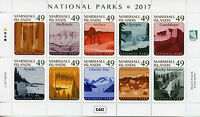 Marshall Islands 2017 MNH National Parks Acadia 10v M/S Tourism Mountains Stamps