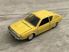 Toy old norev jet car renault 17 ts r17 yellow 1/43