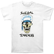 New Suicidal Tendencies Flip Cap Skull White Shirt (L) badhabitmerch