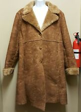 Westbound II Size 2X Brown Rancher Cowboy Coat Sherpa Lined Fur Plus Size Duster