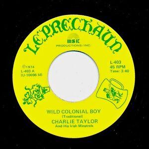IRISH - CHARLIE TAYLOR IRISH MINSTRELS - Wild Colonial Boy / Muirshin Durkin