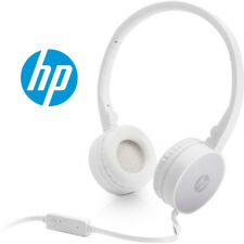HP NEW H2800 White Wired 3.5mm Stereo Sound Folding PC Headset with Microphone