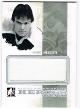 2010-11 ITG HEROES AND PROSPECTS HEROES JERSEY SILVER #HM-06 MARK MESSIER /30 !!