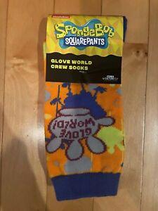 Nickelodeon Spongebob Squarepants Bikini Bottom Box Glove World Adult Crew Socks