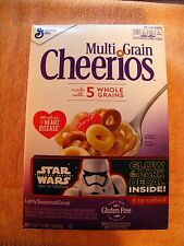 General Mills Multi Grain Cheerios Star Wars The Force Awakens EMPTY Cereal Box