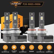 4x AUXBEAM 9005+9006 Combo LED Headlight Bulb Conversion Kit High Low Beam 6500K