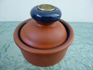 Vintage Small Terracotta Butter Press / Serving Dish Cow Design
