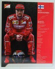 New listing 2017 Kimi Raikkonen Ferrari F1 Driver Card Formula 1 Autograph