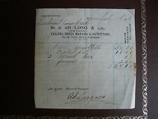 Original 1914 Receipt US Navy Uniform Items - Shanghai, China
