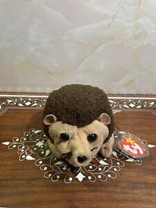TY Beanie Baby - PRICKLES the Hedgehog (6 inch) - MWMT's Stuffed Animal Toy