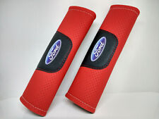 Pair Car Seat Belt Pads Shoulder Strap Cushion Covers For Ford Red
