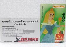 SCHEDA TELEFONICA-LA BELLA ADDORMENTATA-McDonald's-ROM TELESAT ROMANIA 30000 Lei