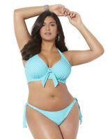Swimsuits For All Women's Plus Size Belle Halter Underwire Bikini Set