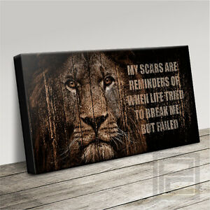 LION 'WHY I'M KING' QUOTE MODERN ICONIC CANVAS ART PRINT PICTURE Art Williams #2