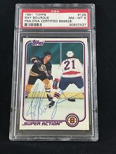 1981 TOPPS #126 RAY BOURQUE BRUINS VINTAGE SIGNED AUTOGRAPHED CARD PSA/DNA 8