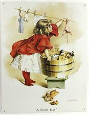 IVORY SOAP BUSY DAY METAL SIGN Humphrey Girl Laundry Ad Poster Vintage Repro USA