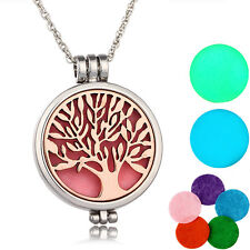New Rose Gold Tree of Life Aromatherapy Essential Oil Diffuser Pendant Necklace