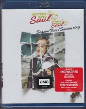 BETTER CALL SAUL SEASON FIVE (BREAKING BAD) BLURAY SET with Bob Odenkirk & AMC