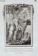 c1790 Ovid Metamorphosen Minerva und die Musen Original-Kupferstich
