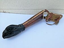 Antique WW2 German arm prosthesis leather articulated prosthetic curiosity deco