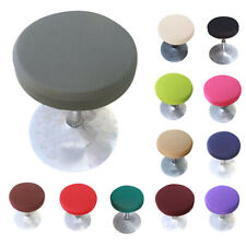1/2/4/6PCS Round Bar Stool Cover Stretch Chair Protector Dental Seat Slipcover