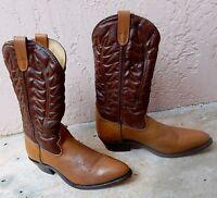 HH Double H Men's Western Cowboy Boots Tan / Brown Distress 9 EE