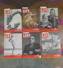 LIFE MAGAZINE, Lot of 6 from 1946 Vintage  Photos, Fashion, Politics and History