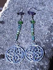 celtic earrings BLESSED amethyst pagan wiccan tribal atlantis symbols magik pure