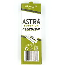 100 ASTRA Super Platinum Double Edge Safety Razor Blades -SMOOTH (Box of 20x5)
