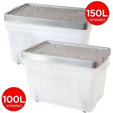 Stapelbare Aufbewahrungsboxen für den Wohnbereich aus Kunststoff