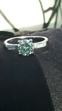 Sparkly White Gold Filled Round Cubic Zirconia ring