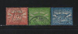 NETHERLANDS - #C1-#C3 - 1921 AIRMAIL USED SET