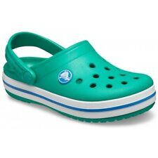 Crocs 204537 CROCBAND CLOG Kids Boys Slip On Comfort Clogs Deep Green/Prep Blue