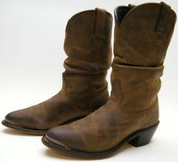 WOMENS DURANGO RD542 BROWN LEATHER SLOUCH COWBOY WESTERN BOOTS SZ 8.5~1/2 M