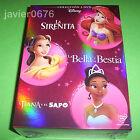 LA SIRENITA BELLA Y BESTIA TIANA COLECCION DISNEY EN DVD PACK NUEVO Y PRECINTADO