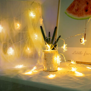 LED string of starandmoon Decorated theroomwith small string offestivelights⭐