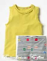 NEW MINI BODEN 2pc Outfit Set Yellow Pretty Tank Top & Jersey Shorts Girls 7-8