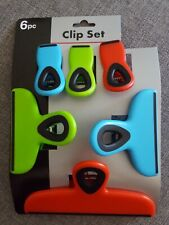 Set of Chip Bag Clips Colorful Home Kitchen Food Snack Rubber Clips 6 Piece Set