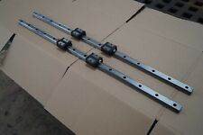 "THK LM Linear Guide Slide Rail Kit SSR20 2 Rails 4 Blocks 32 1/4"" Inch Long"