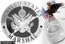 Special Antique Silver U.S Marshal Badge *Plus+ Pray for our Police Tag