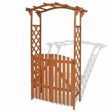 vidaXL 43372 Arco da Giardino con Cancello, 120x60x205cm - Marrone